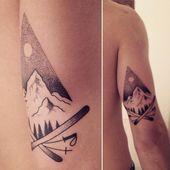 """Martín Funcasta auf Instagram: """"Home # fky986 # fky996tattoo #tattoo #snow #mountain #mountaintattoo #ski #skis #skitattoo #black #blackworkers #dotwork #dotworktattoo #boy…"""""""