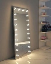 Photo of Full Length Hollywood Mirror, Makeup Vanity Mirrors with Lig…