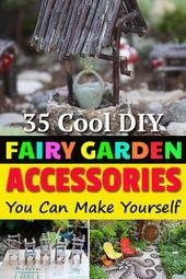 Erfahren Sie, wie Sie entzückende DIY Fairy Garden Accessoires für Ihre Fairy Gardens herstellen. …   – Fairy Gardens