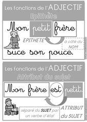 Les fonctions de l'adjectif qualificatif (épithète ou attribut du sujet) : affiches et exercices d'entraînement