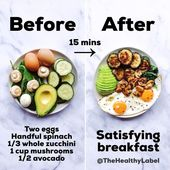 Quick, easy & satisfying breakfast: this should take you no longer than 15 minut…