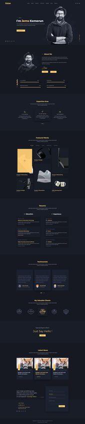 Ozlan: una plantilla de PSD de cartera de conceptos múltiples creativa para agencias y Freelan …   – DIVI