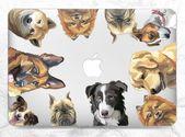 Macbook case dog Case with dog Macbook hard case Case Pro Retina 15 Case macbook pro Macbook clear c