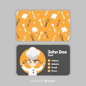 Illustrator Business Card Hand drawn kawaii character business card template   Free Vector