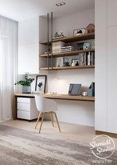 Dekorationsideen für das Home Office für 2018, darunter Bürodesign, Büromöbel … #Büro-Design …