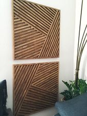Wood Art, Wood Wall Art, Geometric Wood Art, Geometric Wall Art, Modern Wall Art, …
