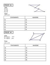 Geometry Congruent Triangles Proofs With Qr Codes Task Cards Teaching Geometry Task Cards Writing Practice