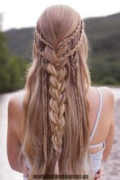Half-Up Half-Down Prom Braided Hairstyles Image2, # bild2 #styles #flechten… – Bohem style