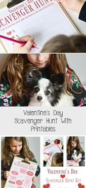 Valentine's Day Scavenger Hunt With Printables