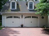 @C.H.I. Overhead Doors model 5632A Steel Carriage House Style Garage Doors with …