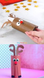 Paper Roll Rudolph Reindeer Craft for Youngsters