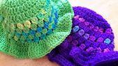 Chapeau de soleil pour bébé à bordures de volants pour l'été, 9-12 mois, violet ou vert, prêt à être expédié   – Bébé Garçon
