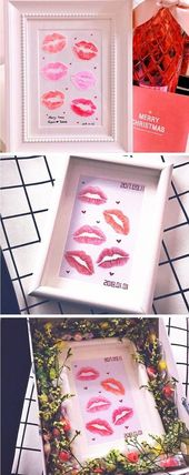 The Kiss Print – Easy DIY Wall Art Gift For Him – Today We Date    diy gift for …