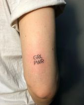 "SMALL TATTOOS | VIVO TATTOO on Instagram: ""New GRL PWR for Valerie Masalevich. #Grlpwrtattoo #grlpwr #girlpower"" #sma …"
