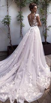 2020 Best Beautiful Lace Spaghetti Strap Wedding Dress