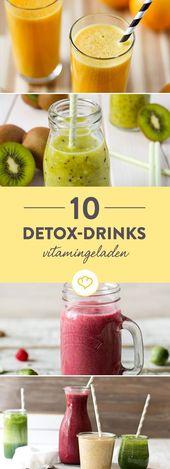 10 vitamingeladene Detox-Drinks