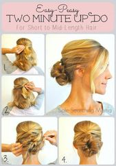 Hairstyles For Long Straight Hair | Bridesmaid Hairstyles | Homecoming Hair Styl…