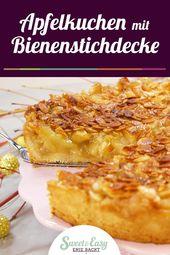 Apfelkuchen mit Bienenstichdecke – Kuchen