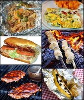 Complete camping menus for campfire and camp stove cooking.  From simple no muss… – Camping