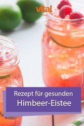 Rezept für gesunden Himbeer-Eistee