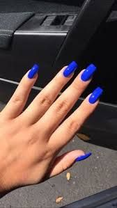 Short Holographic Navy Blue Acrylic Nails Google Search