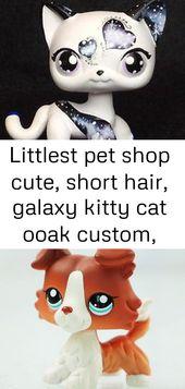 Littlest pet shop niedlich, kurze haare, galaxy kitty cat ooak custom, schön!