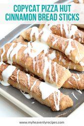 Copycat Pizza Hut Cinnamon Bread Sticks Recipe Recipe – My Heavenly Recipes