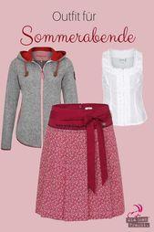 Jupe traditionnelle à motif floral rouge   – Alpiner Lifestyle für den Alltag ♡♡