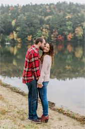 Fall Engagement Photos at Crystal Lake   – Caitlin Page Photography