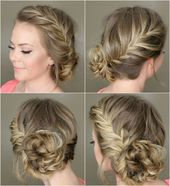 beautiful sport hairstyles chic side fishtail braid #frisuren #frisur #sport … – Hair and beauty – #Beauty #fischsc