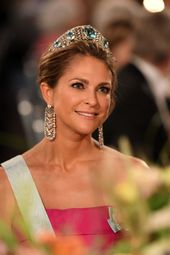 The Tiaras Were Out In Full Force At The Nobel Prize Ceremony In Sweden Princess Madeleine Elegant Ball Gowns Crown Princess Victoria