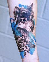 50 der schönsten Wolf Tattoo Designs, die das Internet je gesehen hat – #Beaut …