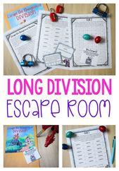 Division Escape Room Lesson