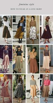 An A-line skirt can be worn from day to night. It's a question of styling