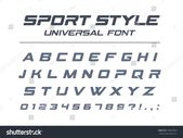 Sport Style Universal Font Fast Speed Stock Vector (Royalty Free) 745069483