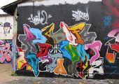 new graffiti: Graffiti Alphabet Letters A-Z Mural   – tag you're it- graffiti blackbook