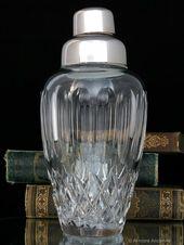 Kristall Cocktail Shaker, Art Deco 1930er Jahre   – CLASSIC BARWARE @ Armoire Ancienne Boutique
