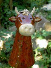 Gartenfiguren Zaunhocker Kuh Berta Ein Unikat Von Zaun Koenigin Bei Keramikskulpturen Bei Berta Ein Gartenfiguren Zaunhocker Keramikskulptur