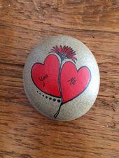 Hand bemalt Valentine Herzen Steine