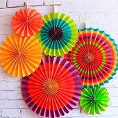 Seidenpapierfächer Partyangebot Sommer Strandparty Tropenparty Cinco De Mayo Dekorationen Weihnachtsdeko Fiesta Dekorationen Mexikanisches Dekor