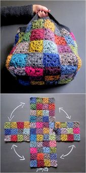 latest crochet handbag idea for girls