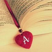 A Letter In Heart Shape On Book Dp Pic For Fb In 2020 Profile Picture For Girls Lettering Stylish Alphabets