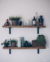 DIY Regal aus alten Holzbohlen – altes Holz bearbeiten – Möbel selbst gemacht – in