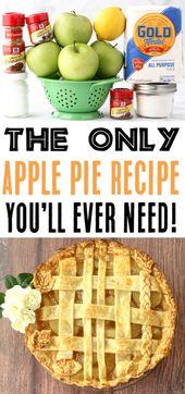 Bestes Apfelkuchen-Rezept aller Zeiten mit einfacher hausgemachter Apfelkuchen-Füllung! Sie werden das Gefühl haben …