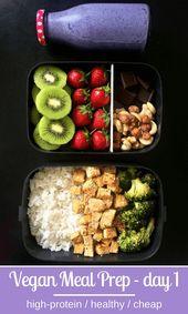 5-tägige proteinreiche vegane Mahlzeit zur Gewichtsreduktion   – food – #5tägi…
