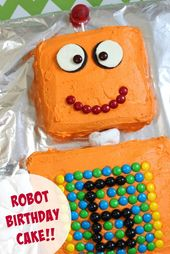 Robot Cake for a Robot themed Birthday Party   – Roboter