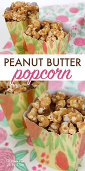 Peanut Butter Popcorn is a delicious and easy trea…