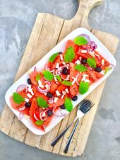 Watermelon salad – Healthy by Elisa