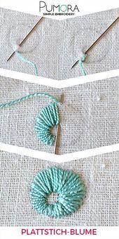 Plattstich Blumen sticken – der Allrounder