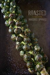 These on the stalk roasted Brussels sprouts are the perfect addition to your hol…   – Eats and Drinks #recipes
